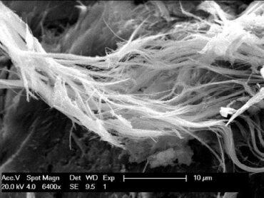 Asbestfasern in Fußbodenbelag